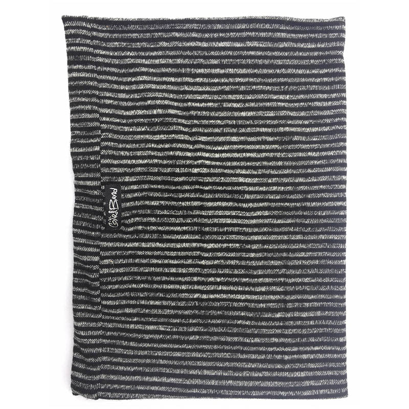 Black & Grey Knit Stripe Tall Band