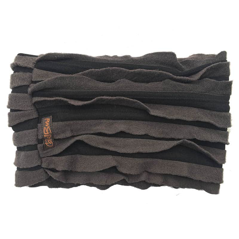 Charcoal Grey Cozy Ruffle Band